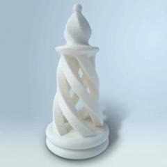 Szachowa królowa wydrukowana z filamentu BioCREATE