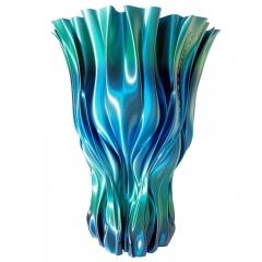 Wazon wydrukowany z użyciem PLA Rainbow Silk Ocean