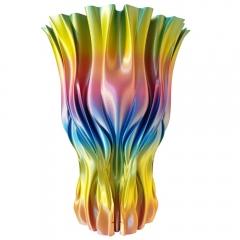 Wazon wydrukowany z użyciem PLA Rainbow Silk