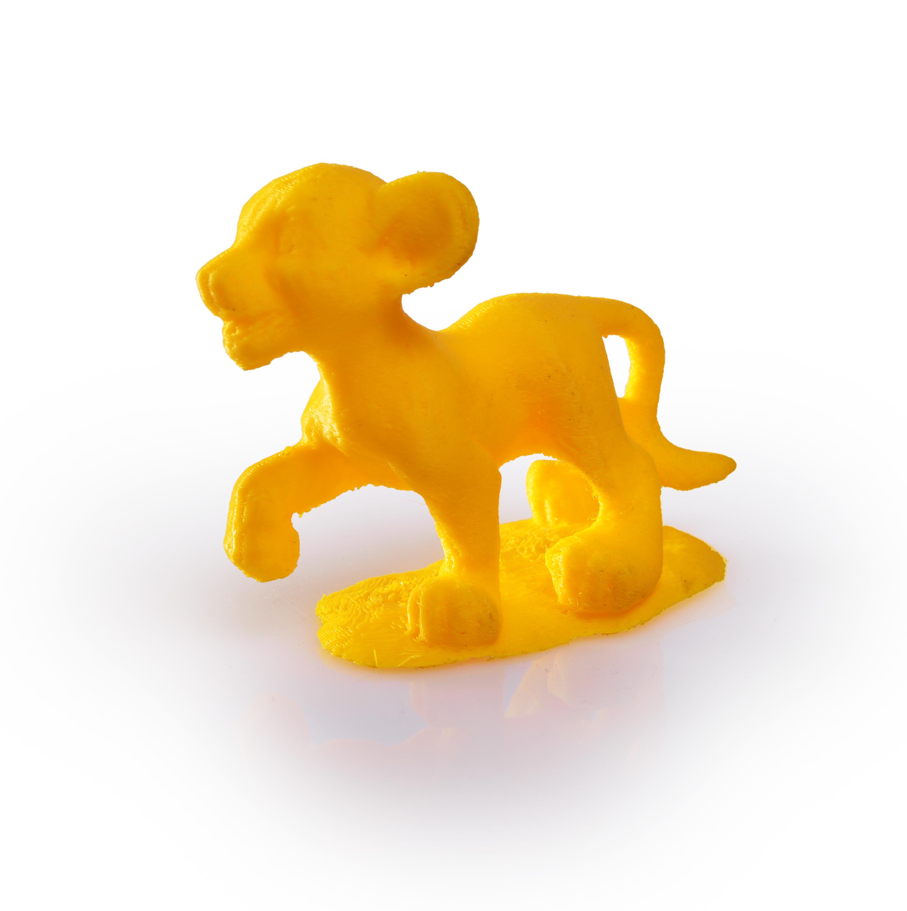 Filament Rosa 3D przykładowy wydruk 3: Simba | Król Lew