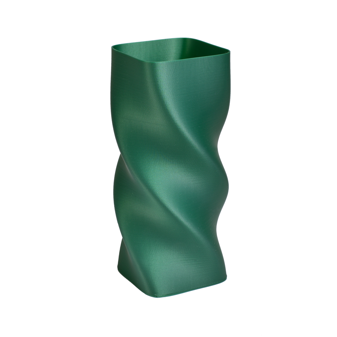 Materiał emerald green satin
