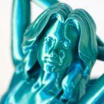 Syrena wydrukowana z filamentu PLA Rainbow Silk Ocean