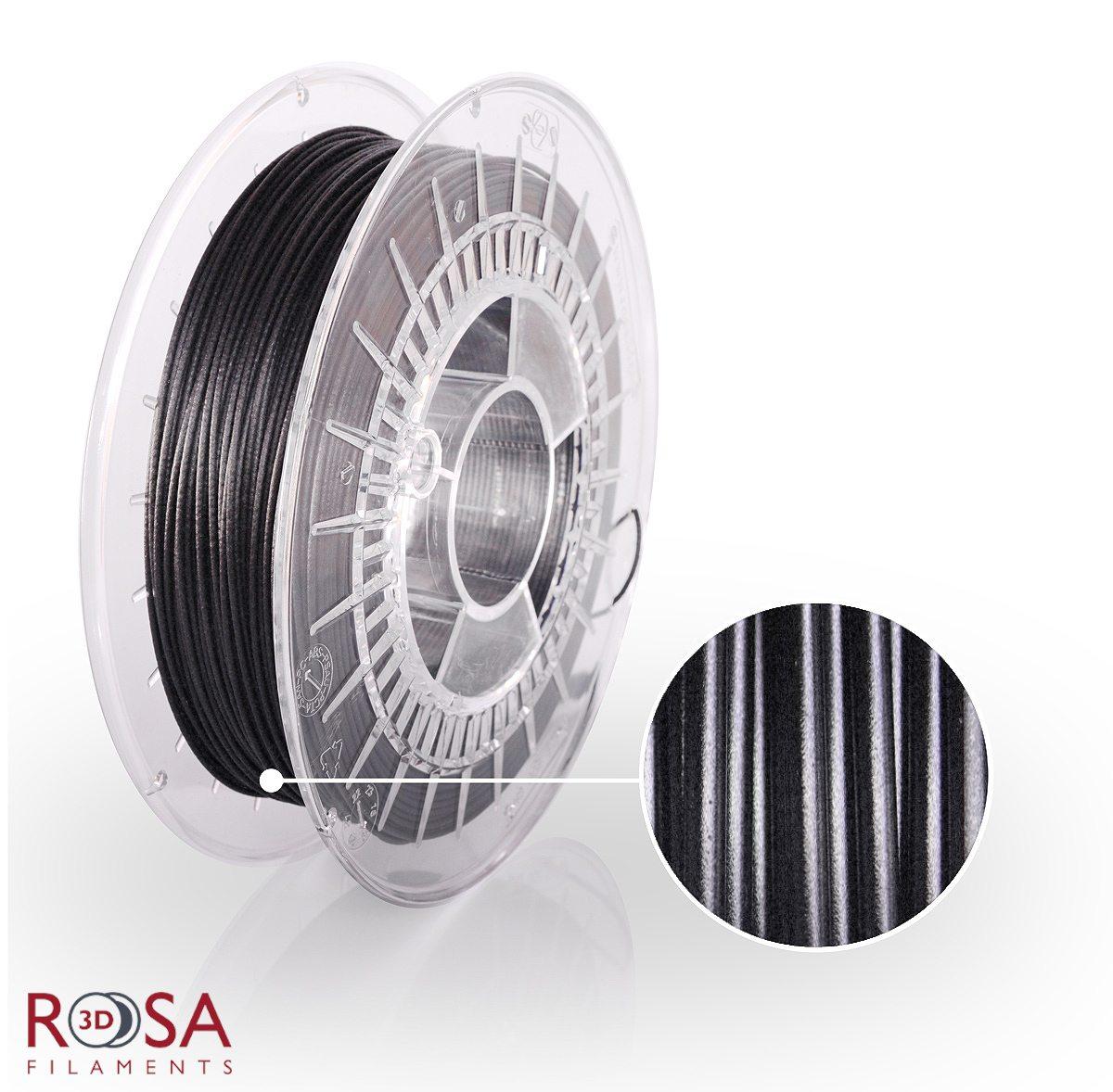 szpula filamentu PLA CarbonLook o wadze 0,5 kg produkcji ROSA3D
