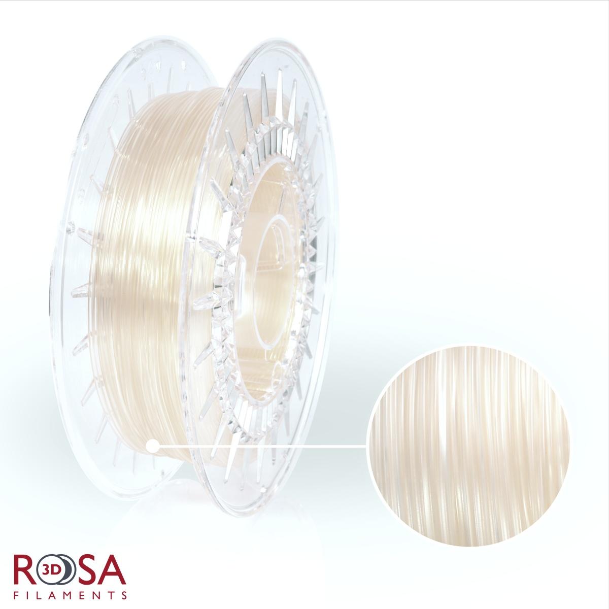 szpula filamentu PVB o wadze 0,5 kg produkcji ROSA3D