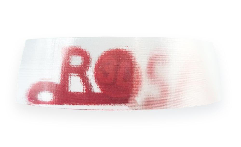 Logo ROSA3D za jednowarstwowym wydrukiem PVB