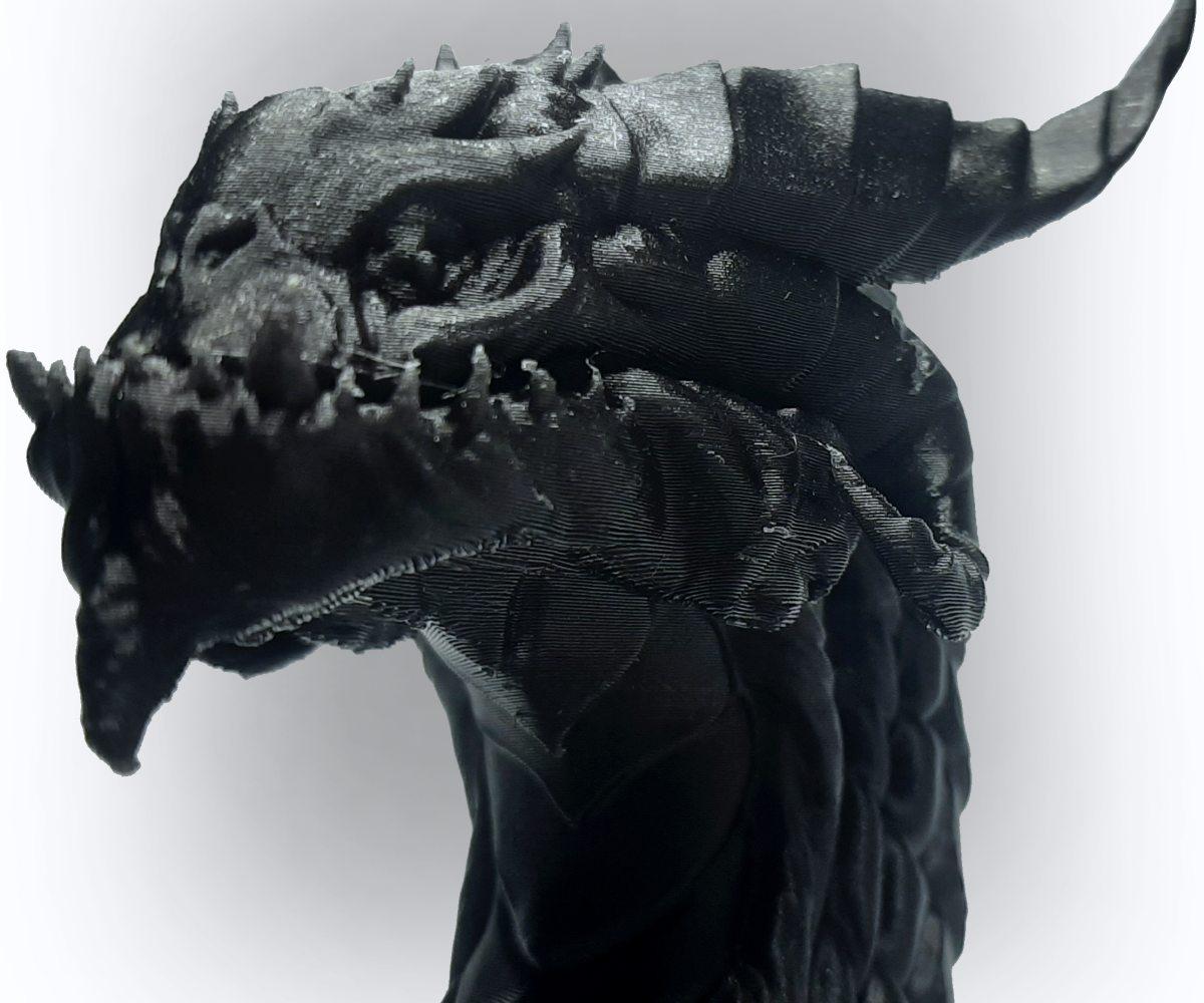 ROSA3D PLA CarbonLook Dragon Head Close Up