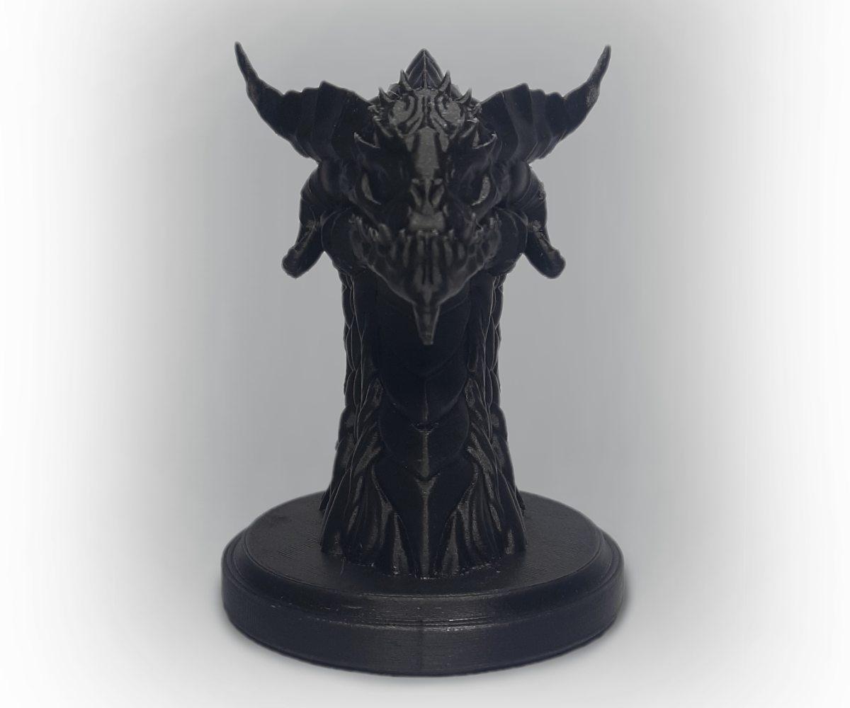 ROSA3D PLA CarbonLook Dragon Head Front View