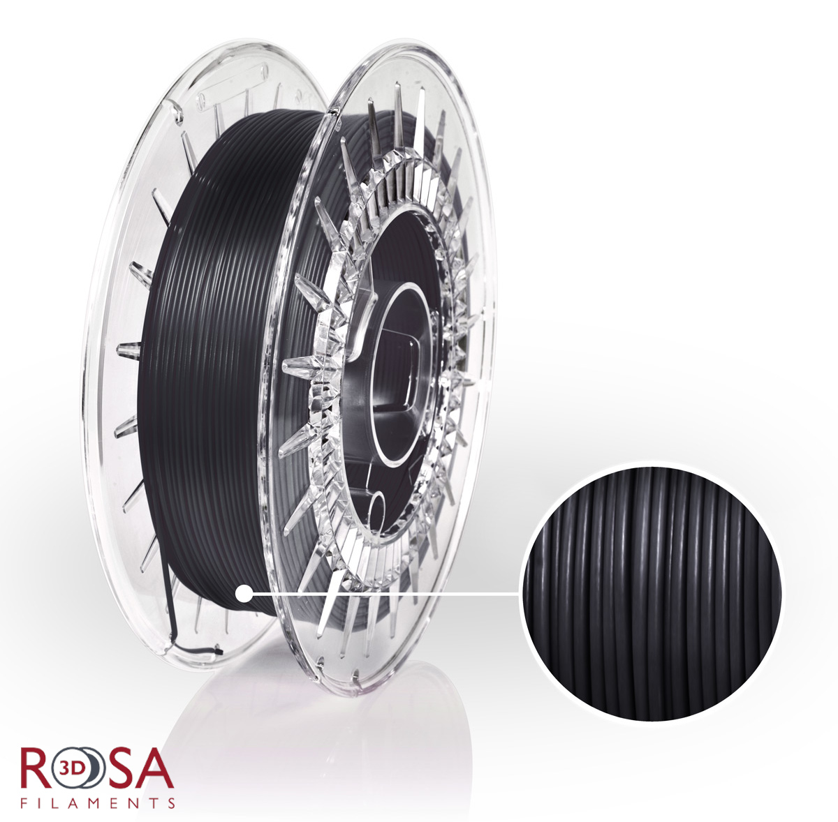 szpula filamentu ROSA-Flex 85A o wadze 0,5 kg produkcji ROSA3D